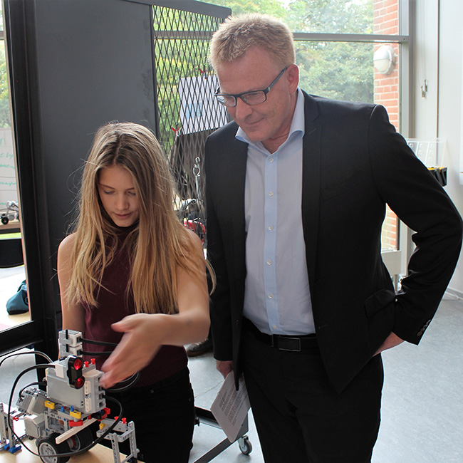 Peter Sørensen, Mayor of Horsens, to the opening of Engineering Lab.